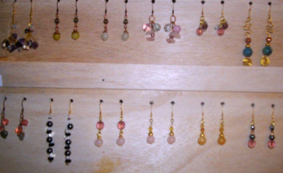 boucles d`oreilles  artisanales pierres semi-précieuses
